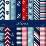 Nautical Digital Paper Scrap..