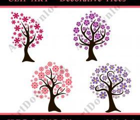 Tree - Digital Clip Art, Clip art tree, Digital Scrapbooking, PNG