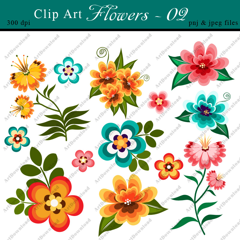 digital clip art flowers clip art flowers digital paper flowers printable flowers for personal commercial use